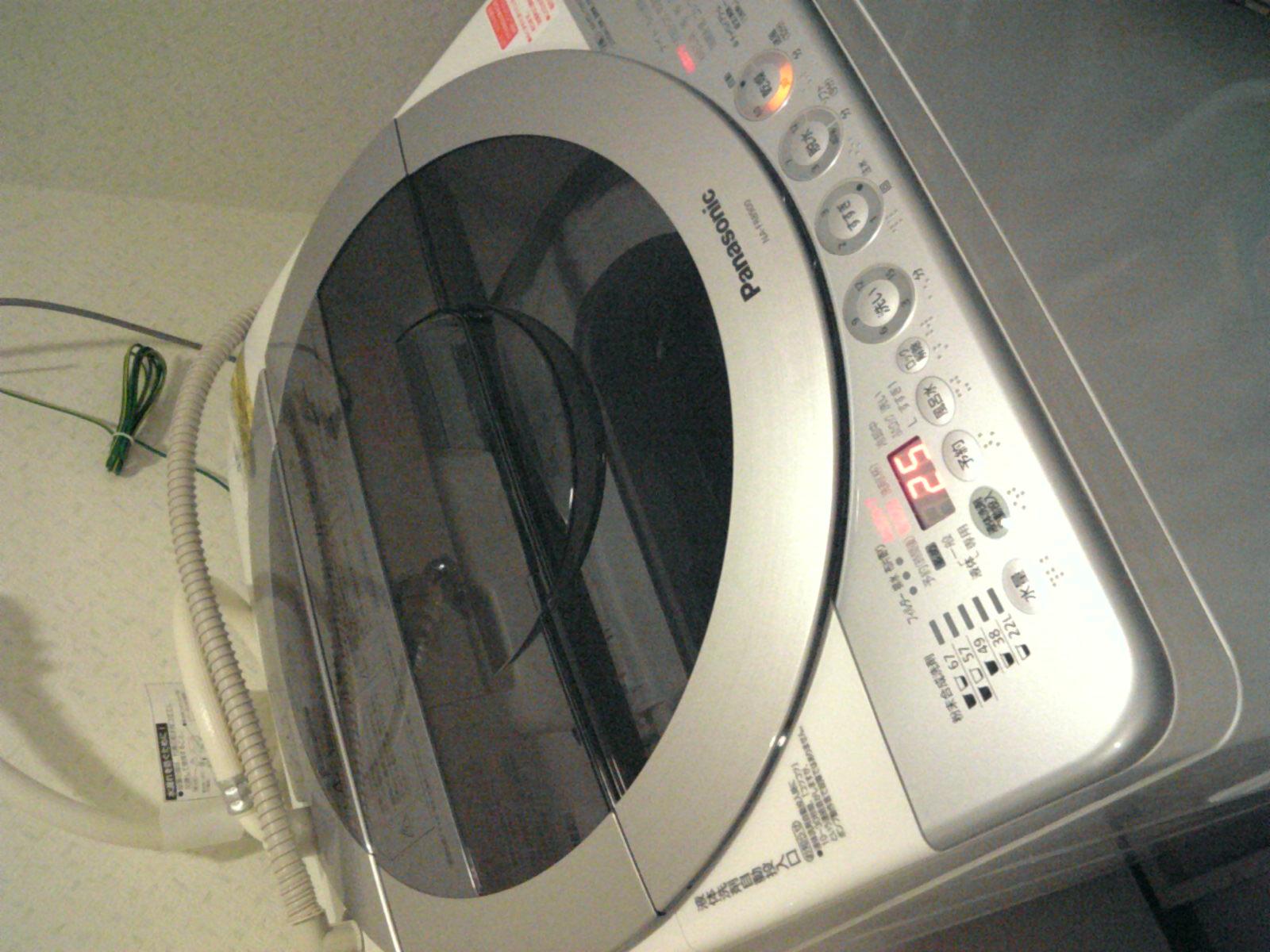 洗濯機来たよ(*'。'*)