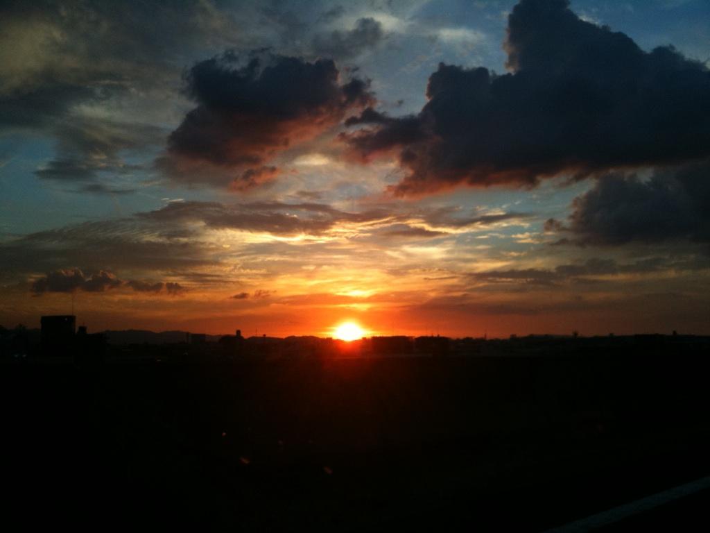 夕陽が綺麗o(^▽^)o