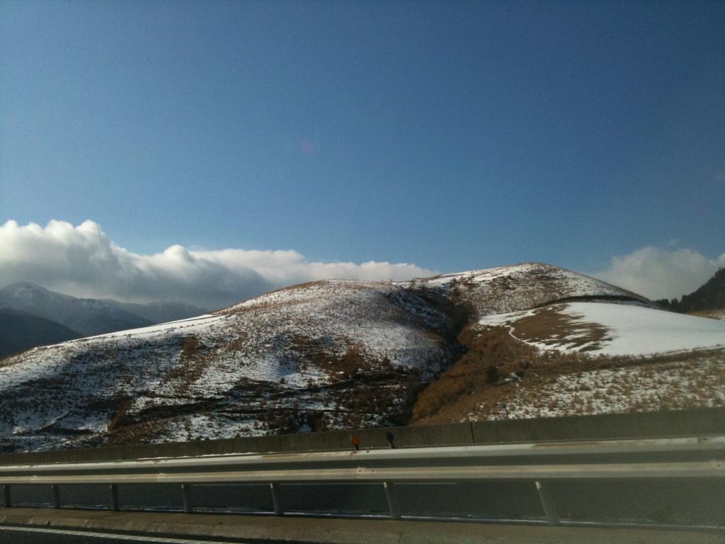 由布岳は今日も雪
