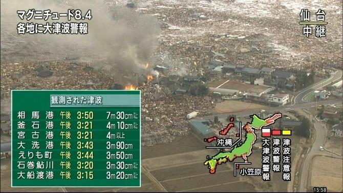 地震凄い(・_・;
