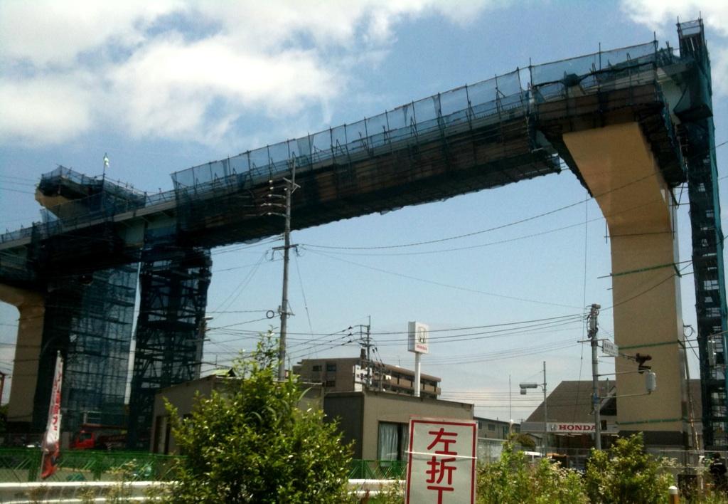 都市高速工事中
