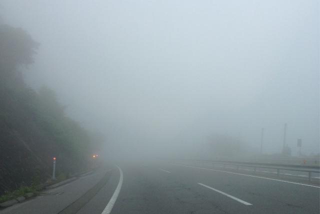 霧が( ;´Д`)