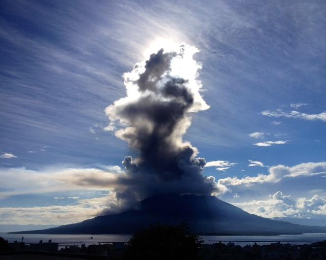 桜島が噴火((((;゚Д゚)))))))⁈
