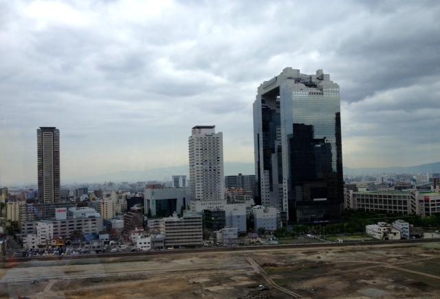 大阪も曇り