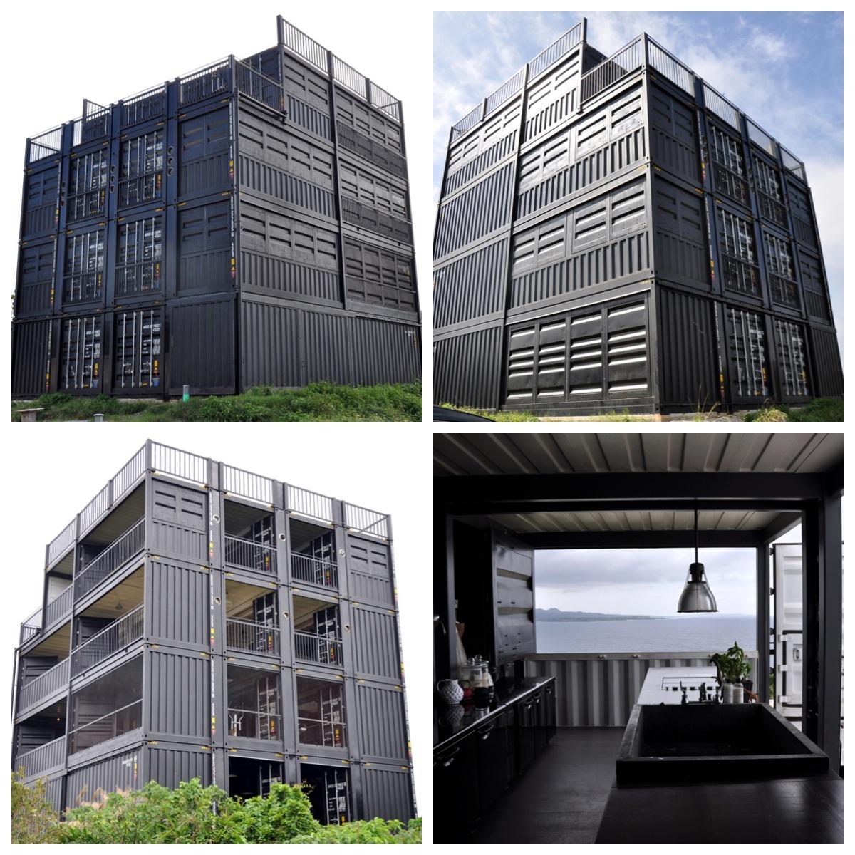 神の島のコンテナ4階建の家