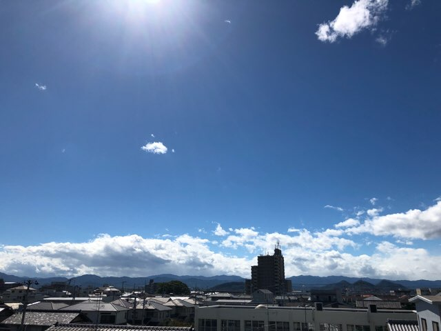 台風それた(^-^)