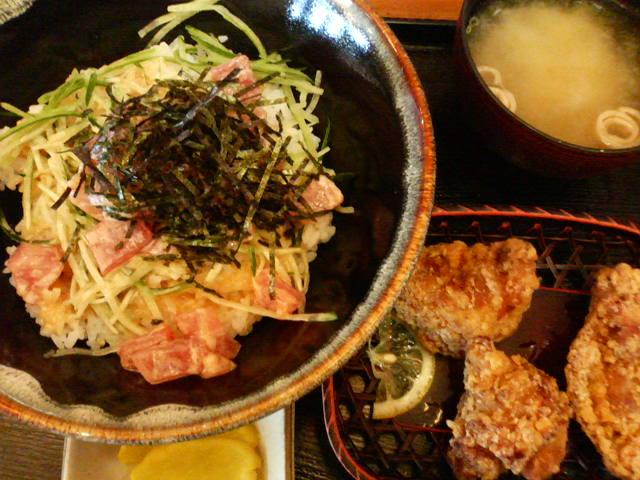 ツナマヨ丼定食
